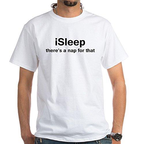 CafePress Isleep - 100% Cotton T-Shirt, White -
