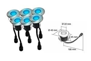 Easy Connect 6 mini recessed light Ø4,5cm 5 LED blue (65411)