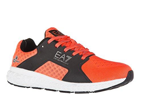 Emporio Armani EA7 chaussures baskets sneakers homme light spirit orangene