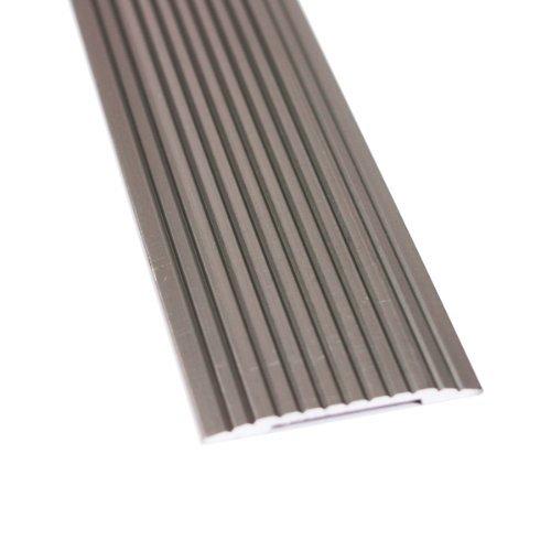 M-D 43874 1-1/4'' X 72'' Pewter Aluminum Floor & Carpet Seam Binder