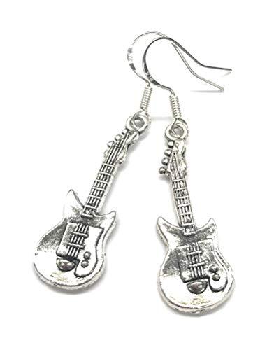 Guitar Charm Drop Dangle Earrings ()