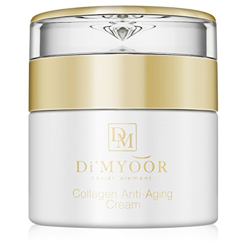 Di'MYOOR Anti-Aging Collagen Cream - Infused with Caviar extract, Glycolic Acid, Certified Organic, Aloe Vera, Vitamin C - Fights Wrinkles, Moisturizes Skin, Protects Skin from Radical - Rejuvenation Caviar Treatment