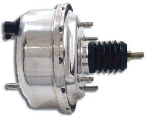 "7"" Single Diaphragm Chrome Power Brake Booster Universal Street Rod for Chevy Ford"