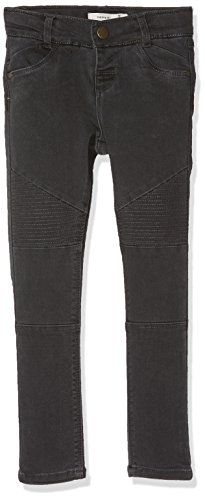 NAME IT Nittirsanne Skinny Pant Nmt Noos, Jeans para Niñas Gris (Asphalt)