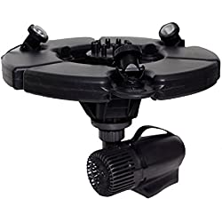 pond boss PROFTN51003L Pro Floating Fountain with Lights, 75 Foot Power Cable, 1/2 hp