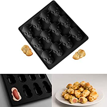 ZTY66 Pigs in Blankets Molds, Multifunction 12 Little Pig Silicone Cake Baking Mould, Non-Stick Silicone Molds for Chocolate Candy Jelly Ice Cube Dog Treats ...