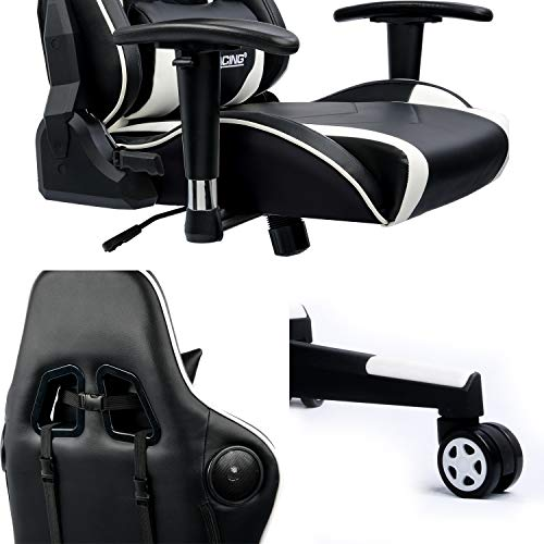 Gtracing Gaming Chair With Speakers Bluetooth Music Racing