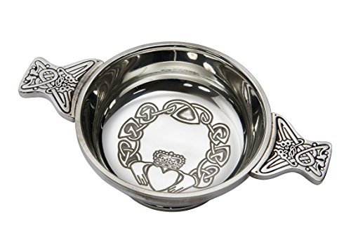 Wentworth Pewter - Large Claddagh Pewter Quaich for sale  Delivered anywhere in Canada