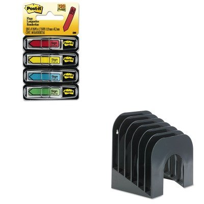 KITMMM684SHRUB96601ROS - Value Kit - Rubbermaid Six-Tier Jumbo Incline Sorter (RUB96601ROS) and Post-it Arrow Message 1/2amp;quot; Flags (MMM684SH)