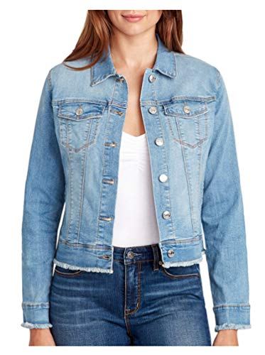 Nine West Women's Sarah Denim Jean Jacket, Windham, Medium
