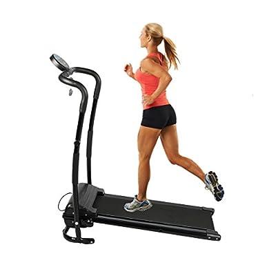 Belovedkai Folding Electric Treadmill, Fitness Running Machine, Black