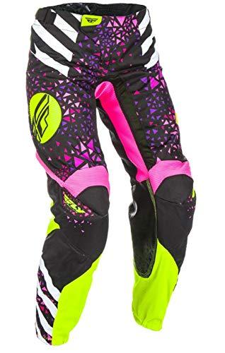 Fly Racing Kinetic Race - Fly Racing Women's Kinetic Race Pants Neon/Pink/Hi-Vis Size 26