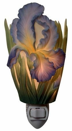 Bearded Iris Nightlight - Flowers of Light Ibis & Orchid Designs
