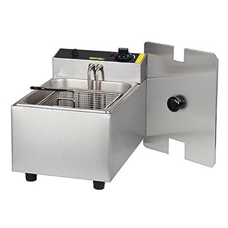 Buffalo - Freidora individual de 5 litros (300 x 270 x 400 mm), modelo comercial de cocina de catering eléctrica: Amazon.es: Industria, empresas y ciencia
