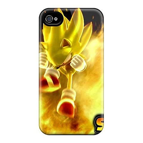 For Iphone Case, High Quality Super Sonic For Iphone 4/4s Cover Cases (Sonic Iphone 4s Case)