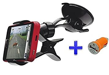 Soporte Ventosa Coche Parabrisas para teléfono móvil Smartphone Bq Aquaris E5 / M5 5