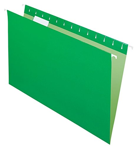 Office Depot 2-Tone Hanging File Folders, 1/5 Cut, 8 1/2in. x 14in, Legal Size, Green, Box of 25, OD81630