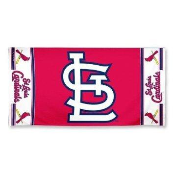WinCraft MLB St. Louis Cardinals Fiber Beach Towel, 9 lb/30 x (Louis Cardinals Fiber)