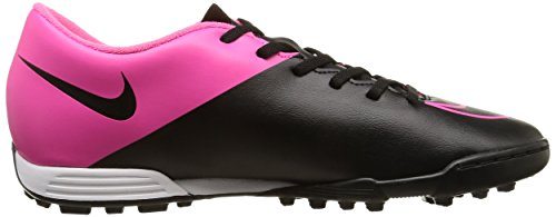 Nike Mercurial Vortex II TF Botas de fútbol, Hombre Negro / Rosa (Black / Black-Hypr Pink-Hypr Pnk)