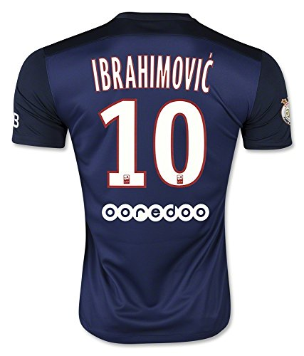 Ibrahimovic #10 Paris Saint-Germain Home Soccer Jersey 2015 (XL)
