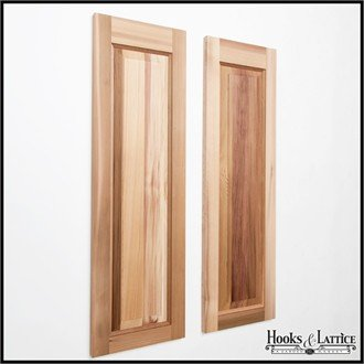 15in. Wide x 50in. High - Cedar One Panel Exterior Shutters (pair) by Windowbox