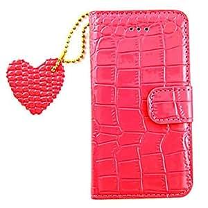 GJY Joyland Leather Heart Pendant Full Body Case for iPhone 5/5S