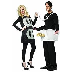 Rasta Imposta Lightweight Plug and Socket Couples Costume Black/White One Size