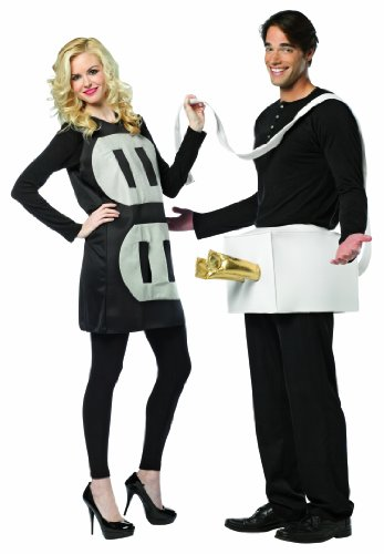 Couple Costumes - Rasta Imposta Lightweight Plug and Socket Couples Costume, Black/White, One Size