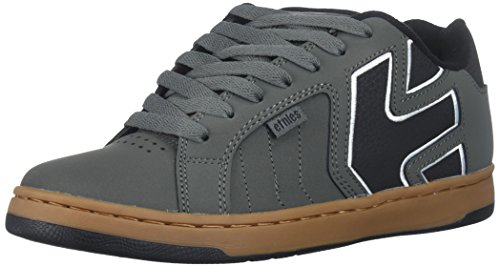 Etnies Men's Fader 2 Skate Shoe, Grey/Black/Gum, 9.5 Medium US