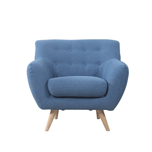 mid century modern tufted button living room accent chair blue general general. Black Bedroom Furniture Sets. Home Design Ideas