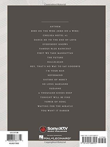Amazon Leonard Cohen Sheet Music Collection 1967 2016