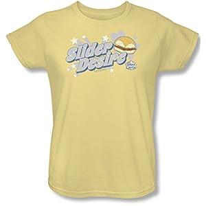White Castle - Womens Slider Desire T-Shirt, XX-Large, Banana