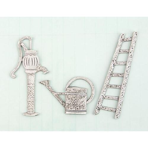 (Prima Marketing SCMT-92456 Shabby Chic Treasures Metal, Garden)