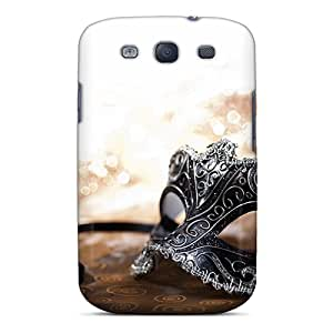 BLowery Premium Protective Hard Case For Galaxy S3- Nice Design - Black Mask