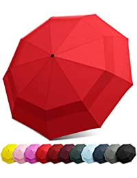 22d631a94595 HQdeal Automatic Compact Travel Umbrella with Reverse and Safe Lock ...