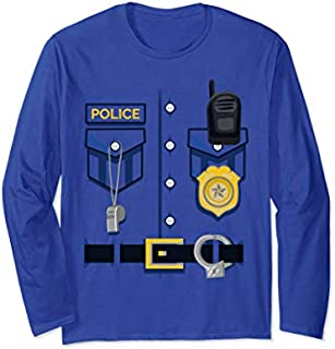 [Featured] Kids Police Officer Costume - Halloween Outfit Blue Police Long Sleeve in ALL styles | Size S - 5XL
