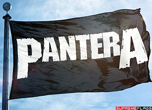 Pantera Flag Banner 3x5 ft Heavy Metal Band Black