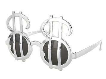 Alsino Gafas de Sol Fun Party Gafas Dólar Plata 04: Amazon ...