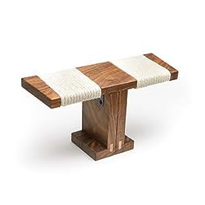 Ronin Meditation Bench (Portable, Folding, Walnut)