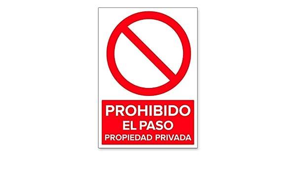 Señal Prohibido el Paso Propiedad Privada | Señalética en ...