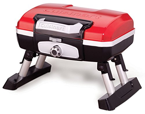(Cuisinart CGG-180T Petit Gourmet Portable Tabletop Gas Grill, Red)