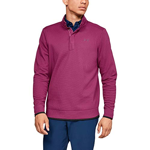 Under Armour Men's Storm SweaterFleece Snap Mock, Charged Cherry (635)/Charged Cherry, Large
