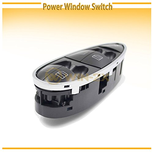 WIN-2X New 1pc Black Housing Chrome Trim Power Window Master Control Switch Interior Front Driver Left Side Fit Mercedes-Benz 06-11 W219 CLS-Class 03-09 W211 E-Class Sedan 04-09 Wagon (E320 Wagon Class E)