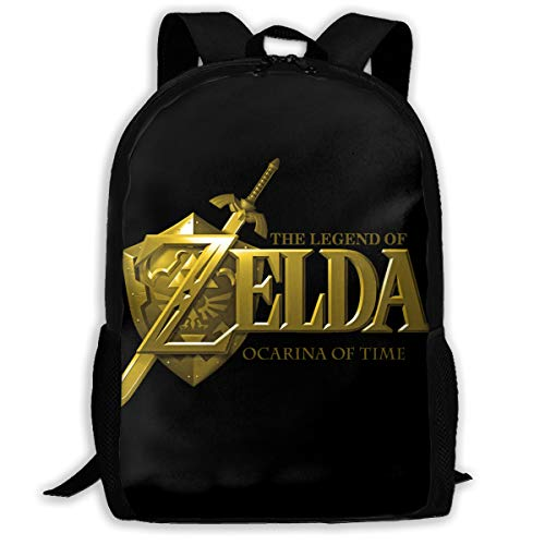 Le-gend Of Ze-lda O-carina Of Time Unisex School Backpacks 3D Printed Large Capacity Casual Travel Bag