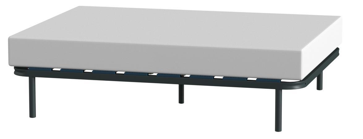 HOGAR24 ES Somier Multiláminas con Reguladores Lumbares, 135x180 cm (5 Patas de 32 cm Incluidas)