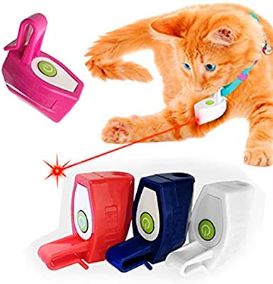 Refaxi Mini Perro Juguetes Luz Entrenamiento Divertido Mascota Perro Gato Jugar Juguete (azul): Amazon.es: Belleza
