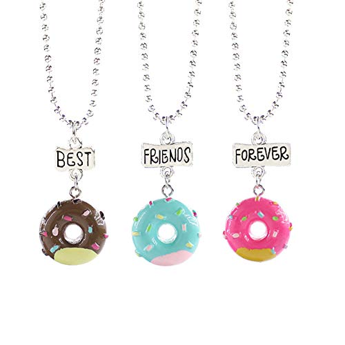 Yinpinxinmao 3 Packs BFF Best Friends Forever Tags Kids Pendant Necklace Set