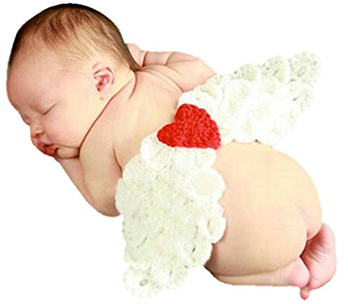Fairy Wings Unisex Baby Angel Wings Photo Costume One Size White (Cupid Baby Costume)