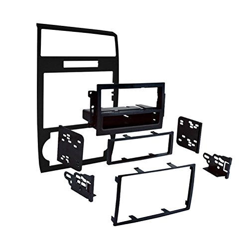 (Metra 99-6519B Single/Double DIN Installation Dash Kit for Select Dodge Vehicles (Black))