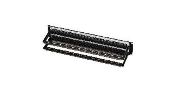 Black Box CAT5e Feed-Through Patch Panel 1U 24-Port Unshielded